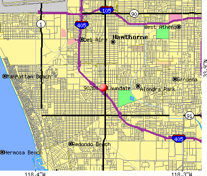 Lawndale, CA (90260) map