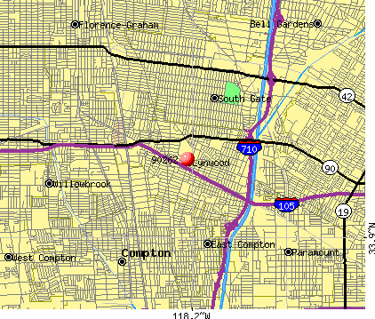Lynwood, CA (90262) map