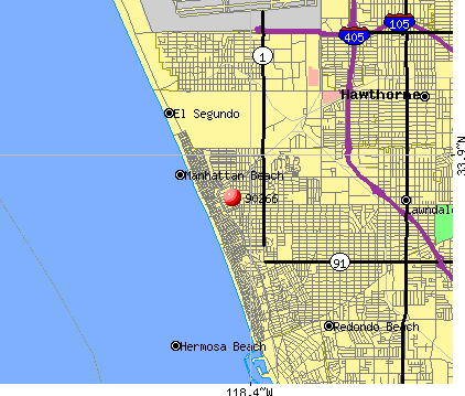 Manhattan Beach, CA (90266) map