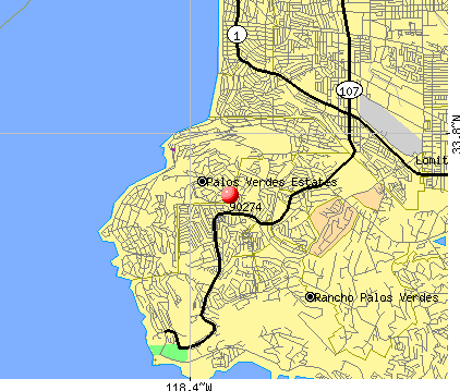 Palos Verdes Estates, CA (90274) map