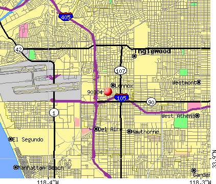 Lennox, CA (90304) map