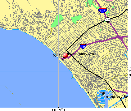 Santa Monica, CA (90401) map