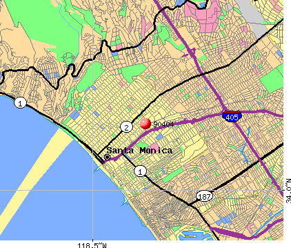 Santa Monica, CA (90404) map