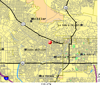 Whittier, CA (90603) map