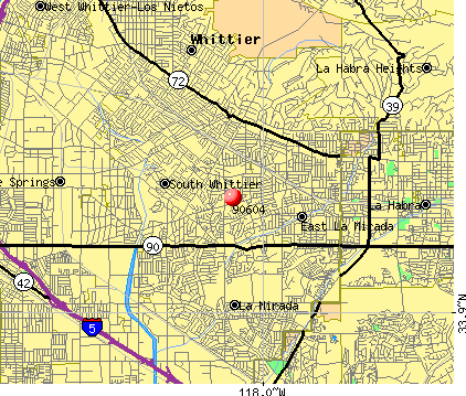 South Whittier, CA (90604) map