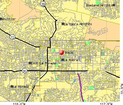 La Habra, CA (90631) map