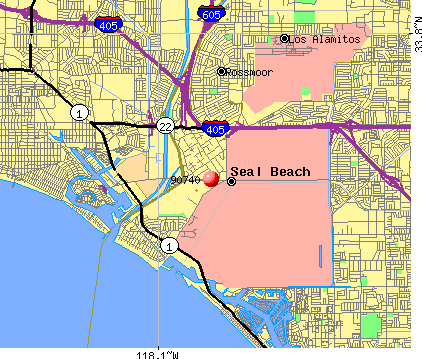 Seal Beach, CA (90740) map