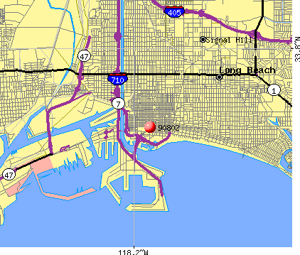 Long Beach, CA (90802) map