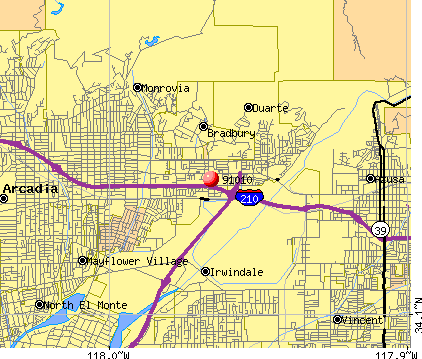 Duarte, CA (91010) map