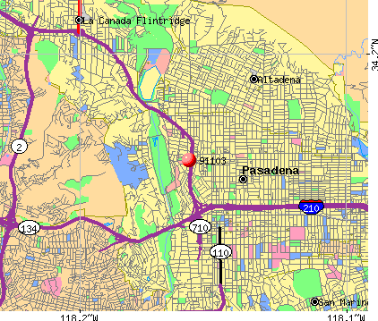 Pasadena, CA (91103) map