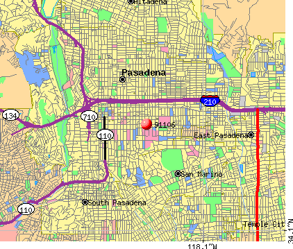 Pasadena, CA (91106) map