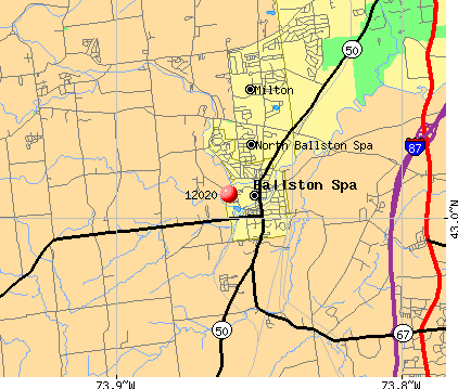 Ballston Spa, NY (12020) map