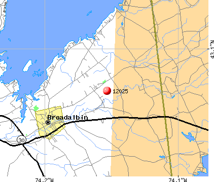 Broadalbin, NY (12025) map
