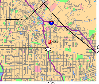 Los Angeles, CA (91605) map