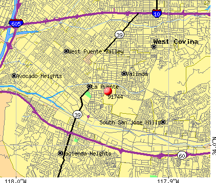 La Puente, CA (91744) map