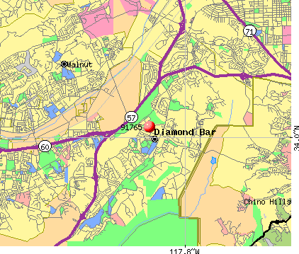 Diamond Bar, CA (91765) map
