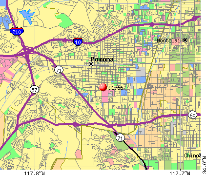 Pomona, CA (91766) map