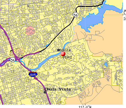 Bonita, CA (91902) map