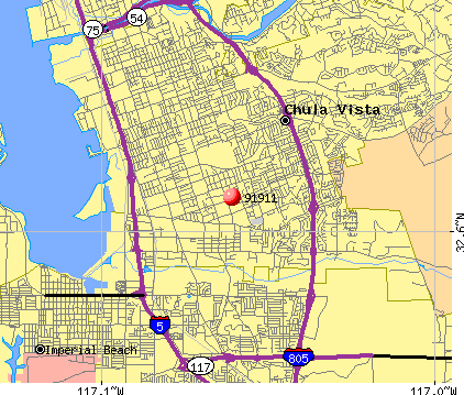 Chula Vista, CA (91911) map