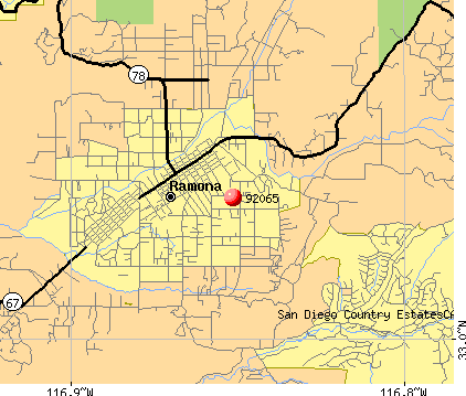Ramona, CA (92065) map