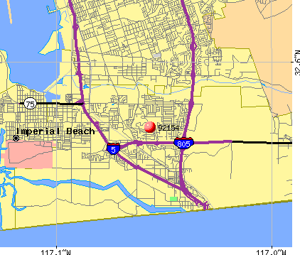 San Diego, CA (92154) map