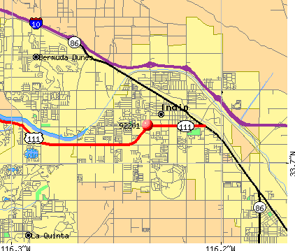 Indio, CA (92201) map