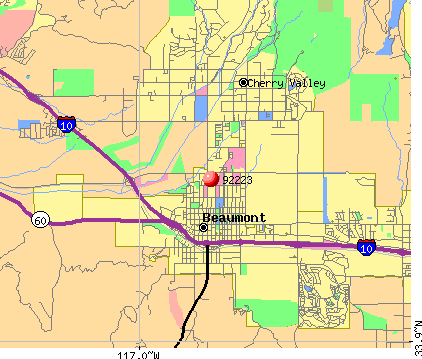 Beaumont, CA (92223) map