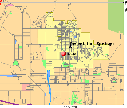 Desert Hot Springs, CA (92240) map