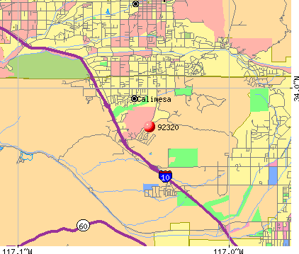 Calimesa, CA (92320) map
