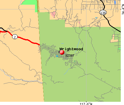 Wrightwood, CA (92397) map