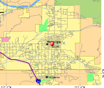 Yucaipa, CA (92399) map