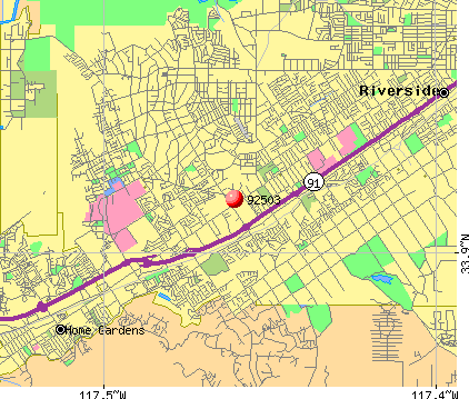 Riverside, CA (92503) map