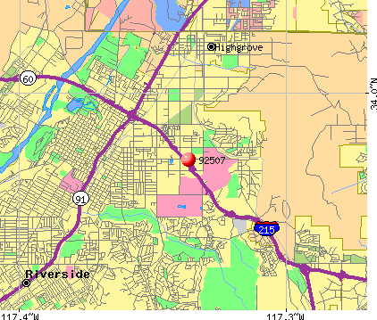 Riverside, CA (92507) map