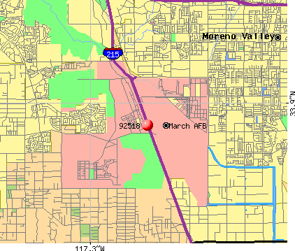 March AFB, CA (92518) map