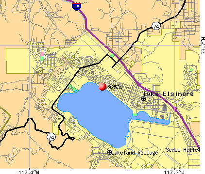 Lake Elsinore, CA (92530) map