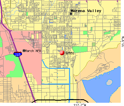 Moreno Valley, CA (92551) map