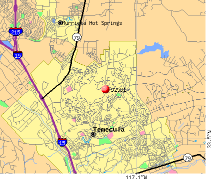 Temecula, CA (92591) map