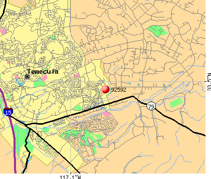 Temecula, CA (92592) map