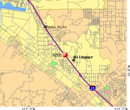 Wildomar, CA (92595) map