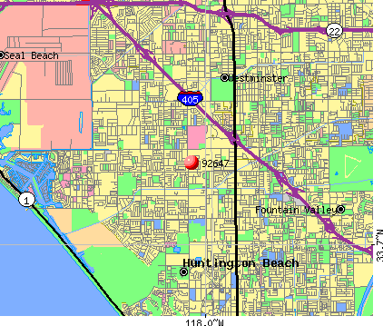 Huntington Beach, CA (92647) map