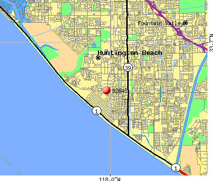 Huntington Beach, CA (92648) map