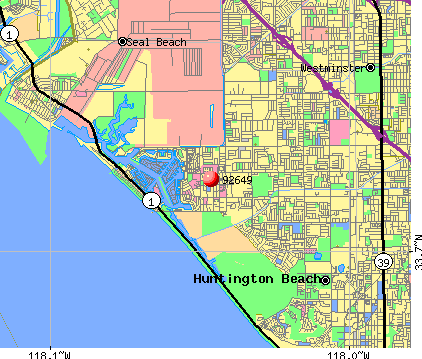 Huntington Beach, CA (92649) map