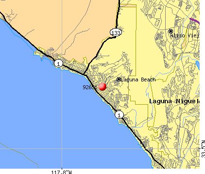 Laguna Beach, CA (92651) map