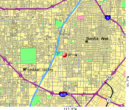 Santa Ana, CA (92704) map