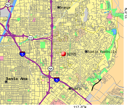 North Tustin, CA (92705) map