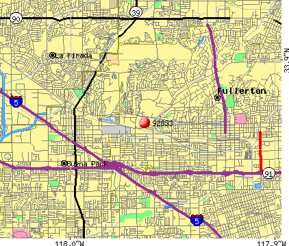 Fullerton, CA (92833) map