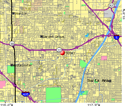 Garden Grove, CA (92843) map