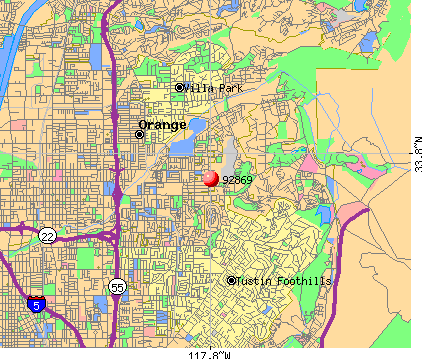 Orange, CA (92869) map