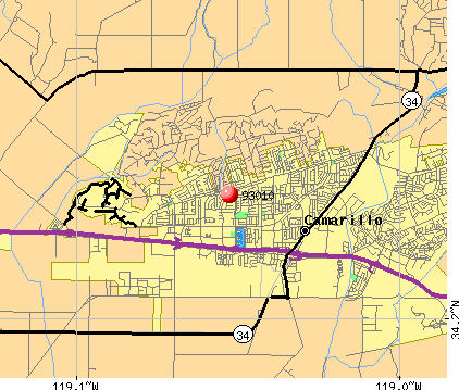 Camarillo, CA (93010) map