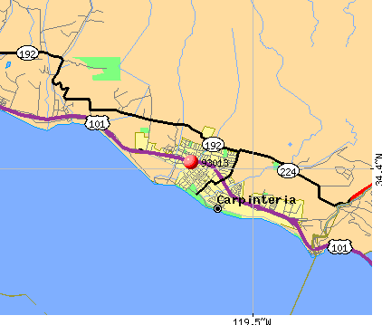 Toro Canyon, CA (93013) map